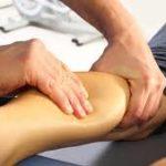 Massage on leg